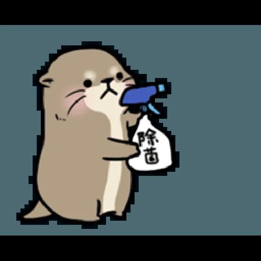 Otter's otter vs virus - Sticker 6