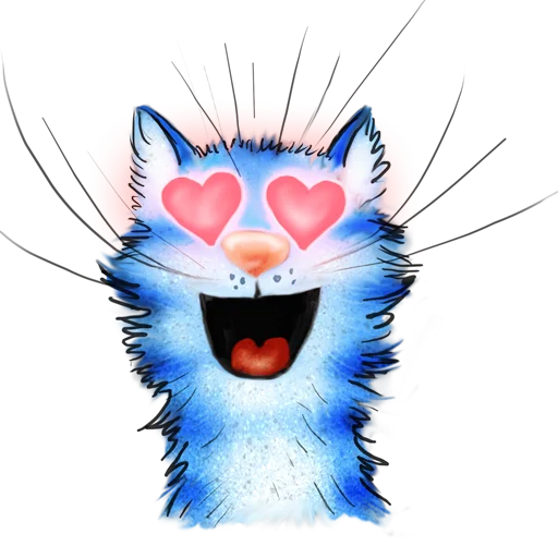 Blue cat - Sticker 13