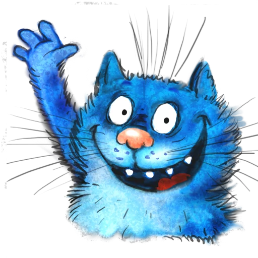 Blue cat - Tray Sticker