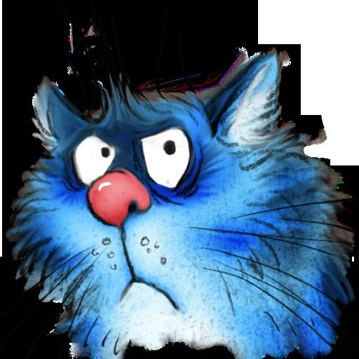 Blue cat - Sticker 19