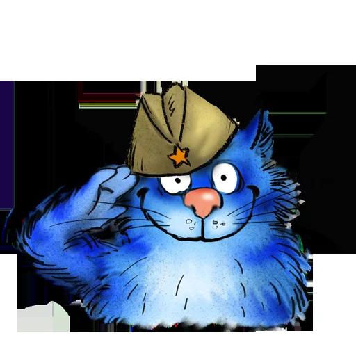 Blue cat - Sticker 22