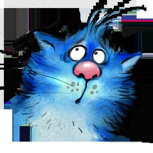 Blue cat - Sticker 21