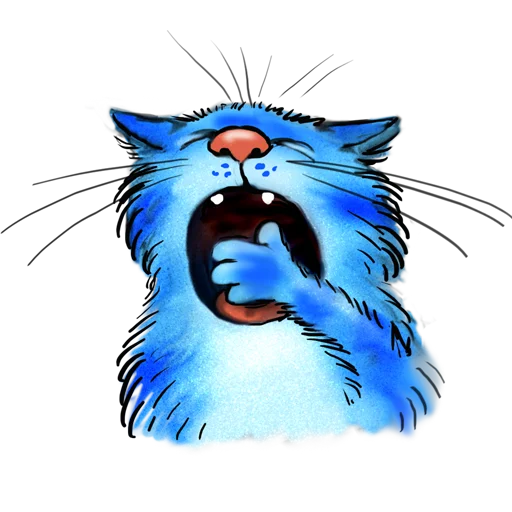 Blue cat - Sticker 17