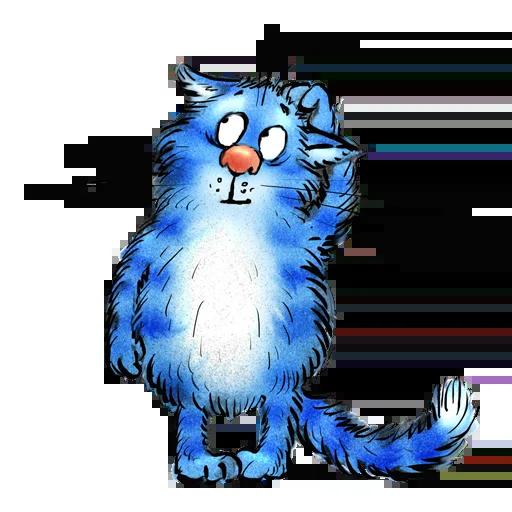 Blue cat - Sticker 14