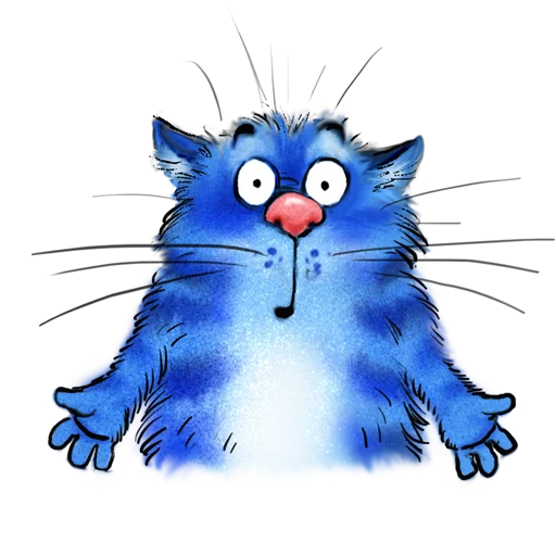 Blue cat - Sticker 11