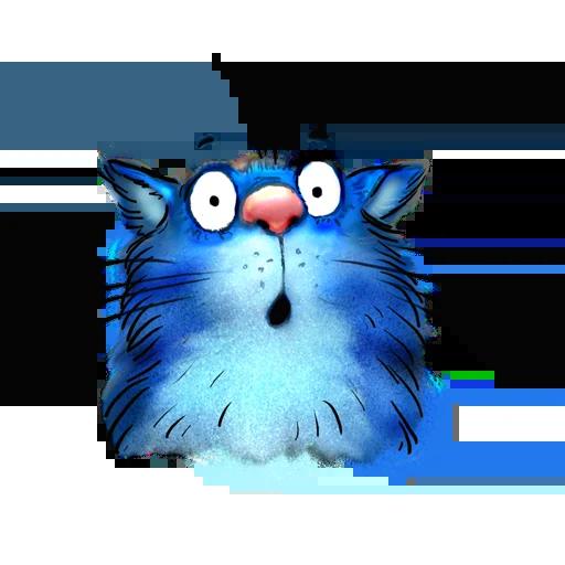 Blue cat - Sticker 18