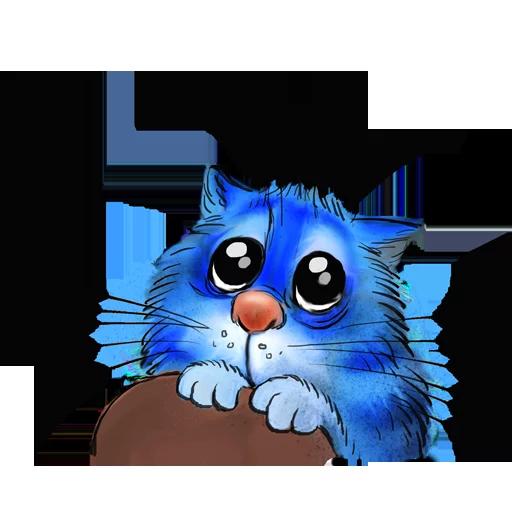 Blue cat - Sticker 23