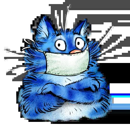 Blue cat - Sticker 30
