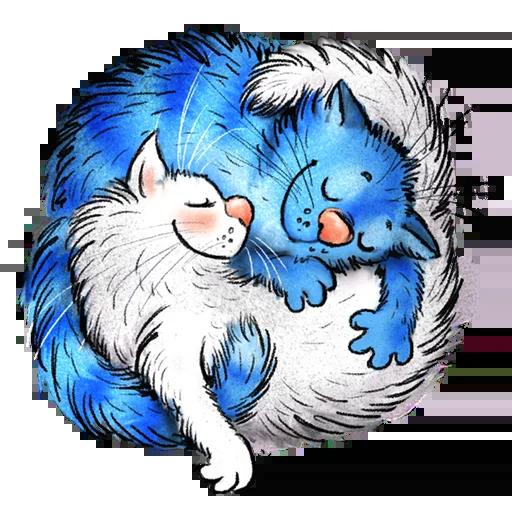 Blue cat - Sticker 16