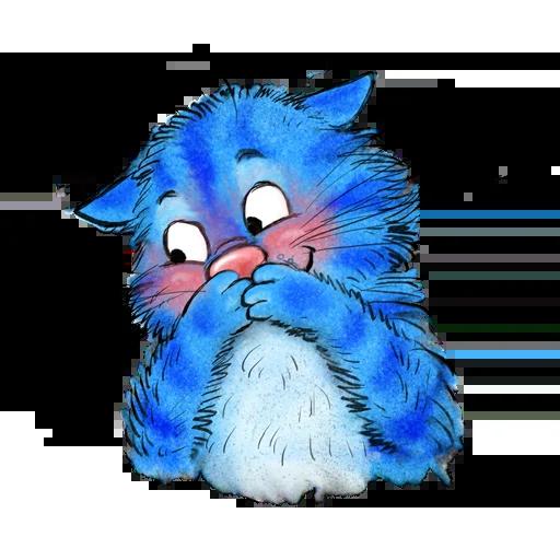 Blue cat - Sticker 6