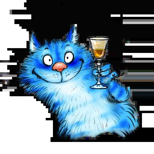 Blue cat - Sticker 27