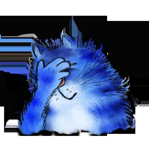 Blue cat - Sticker 4
