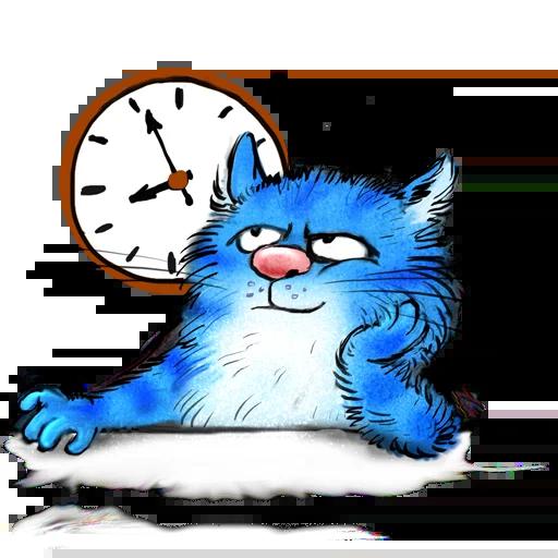 Blue cat - Sticker 24