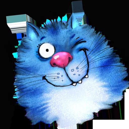 Blue cat - Sticker 2