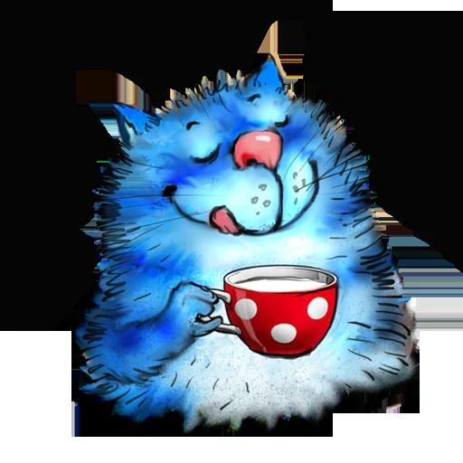 Blue cat - Sticker 9