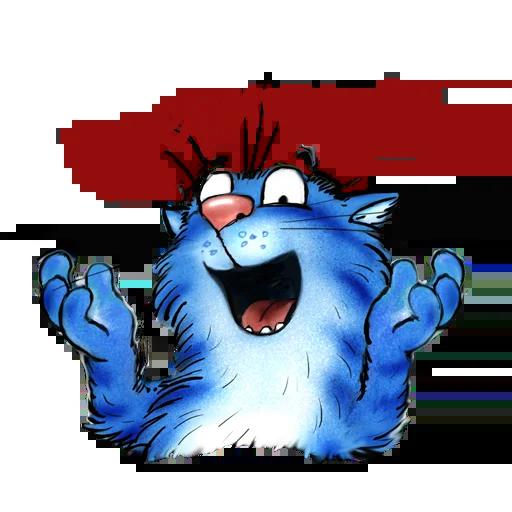 Blue cat - Sticker 7