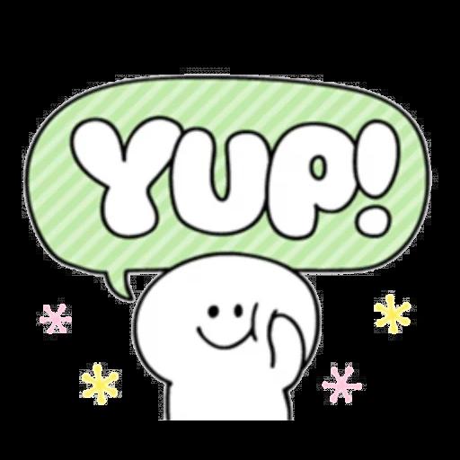 Smile person kind word - Sticker 19