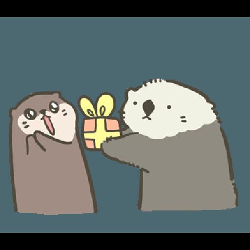 水獺蹭蹭 - 聖誕蹭蹭好朋友 - Sticker 5