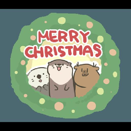 水獺蹭蹭 - 聖誕蹭蹭好朋友 - Sticker 1