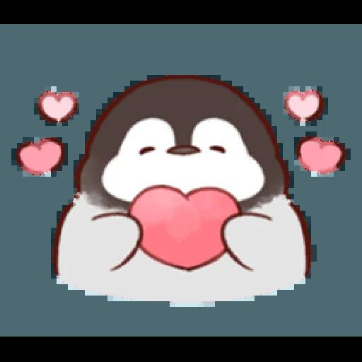 soft and cute penguin 01 - Sticker 4