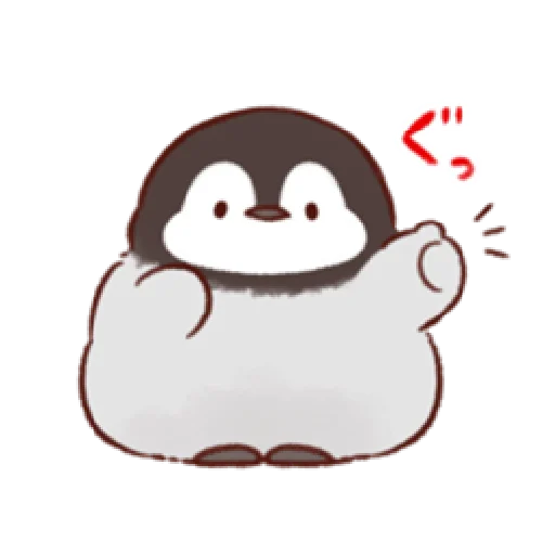 soft and cute penguin 01 - Tray Sticker