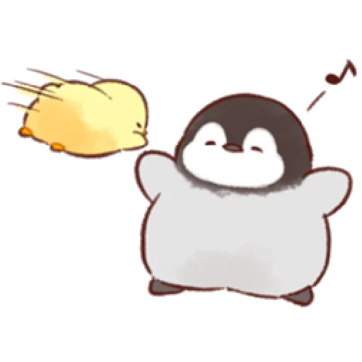 soft and cute penguin 01 - Sticker 28