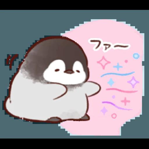 soft and cute penguin 01 - Sticker 7