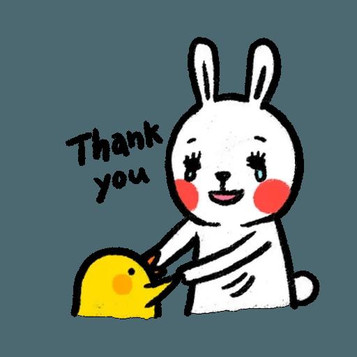 BH-懶散兔與啾先生01 - Sticker 24