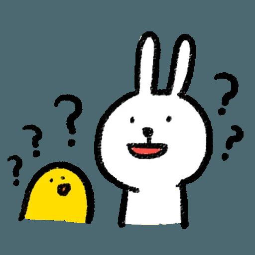 BH-懶散兔與啾先生01 - Sticker 26