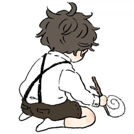 Bed hair boy - Sticker 25