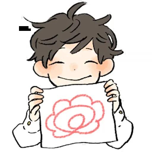 Bed hair boy - Sticker 17