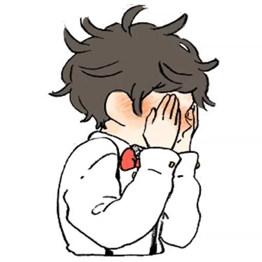 Bed hair boy - Sticker 18