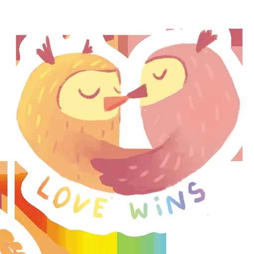 лгбт совы - Sticker 4