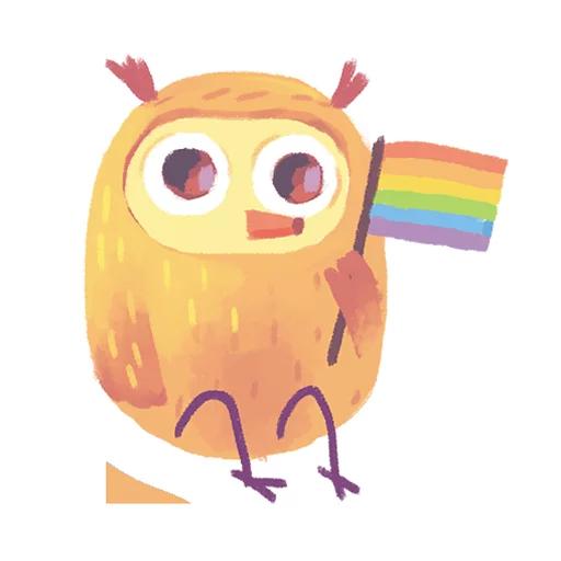 лгбт совы - Sticker 10