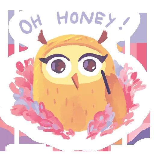 лгбт совы - Sticker 9