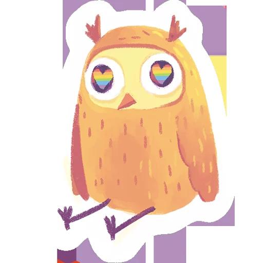 лгбт совы - Sticker 6
