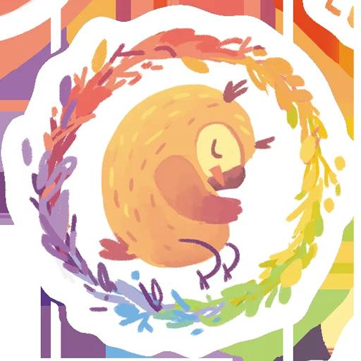 лгбт совы - Sticker 1