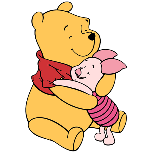 Ursinho Pooh e Piglet - Tray Sticker