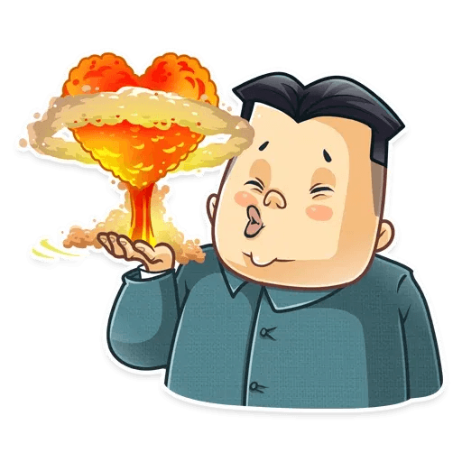 Kim Jong-un - Tray Sticker