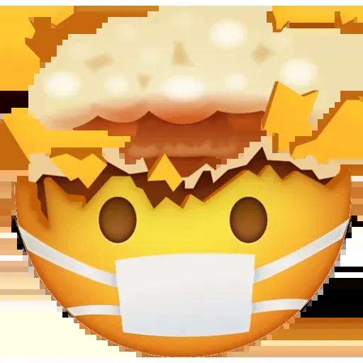 Mask emoji - Sticker 28