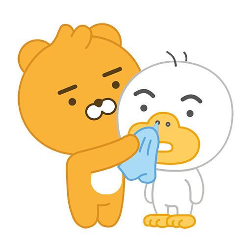 little kakao friends - Tray Sticker