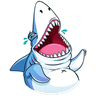 Shark - Tray Sticker