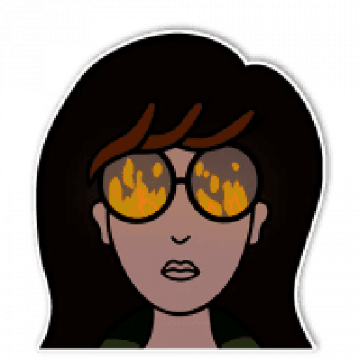 Daria - Tray Sticker