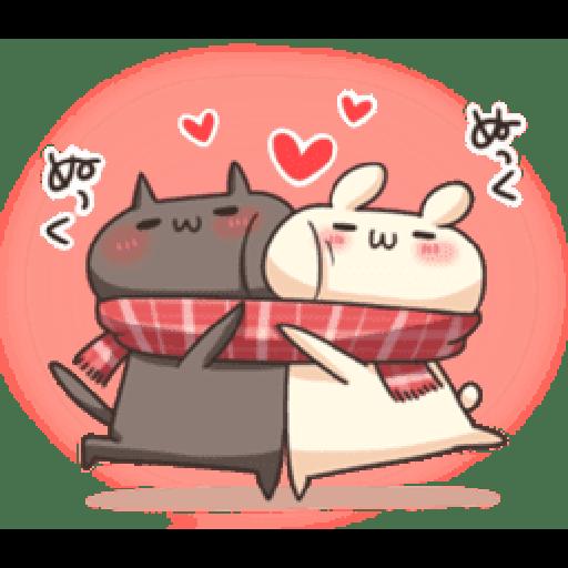 Shiro the rabbit & kuro the cat Part5 - Sticker 17
