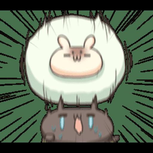 Shiro the rabbit & kuro the cat Part5 - Sticker 4