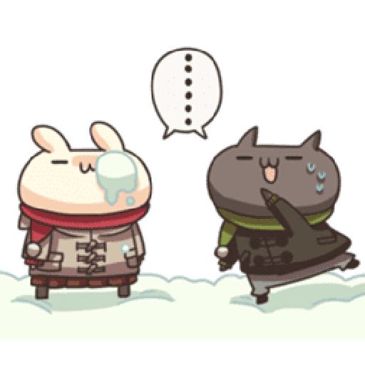 Shiro the rabbit & kuro the cat Part5 - Sticker 3