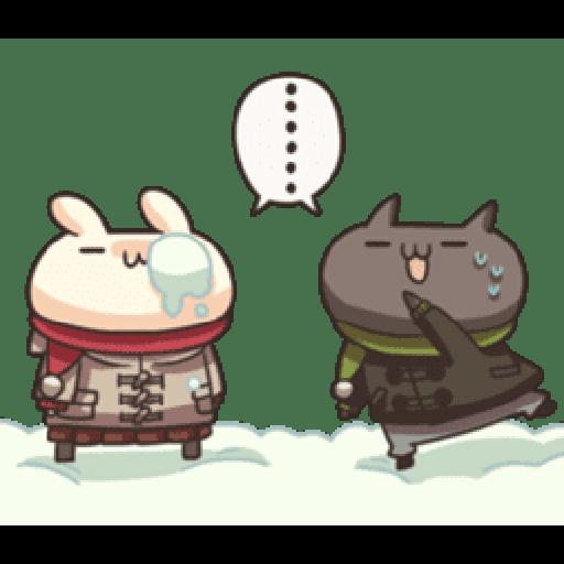 Shiro the rabbit & kuro the cat Part5 - Sticker 3