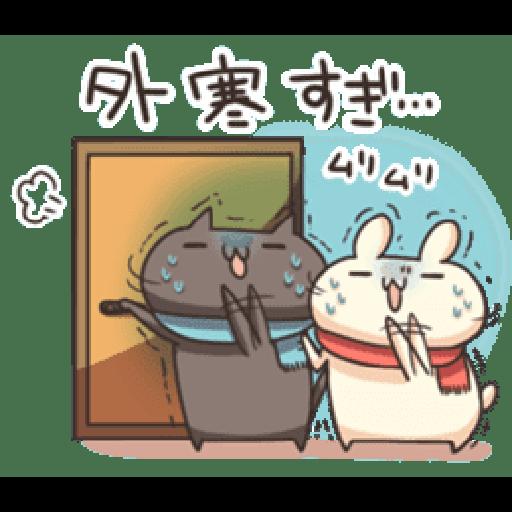 Shiro the rabbit & kuro the cat Part5 - Sticker 10
