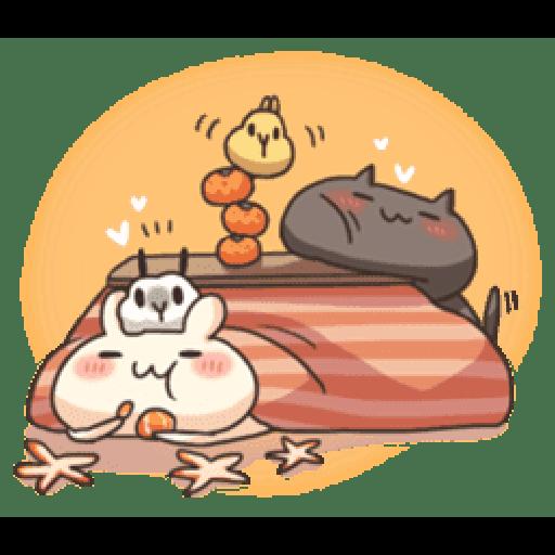 Shiro the rabbit & kuro the cat Part5 - Sticker 7