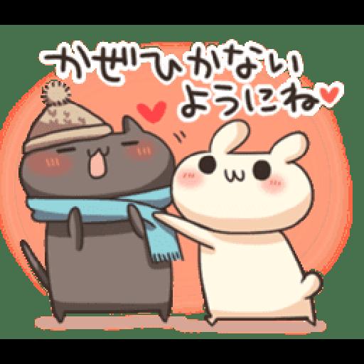 Shiro the rabbit & kuro the cat Part5 - Sticker 9